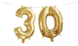 - 30 Yaş Folyo Balonlu Parti Afişi