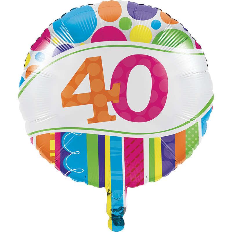 40 Yaş Folyo Balon