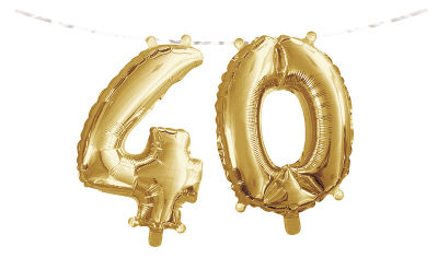- 40 Yaş Folyo Balonlu Parti Afişi
