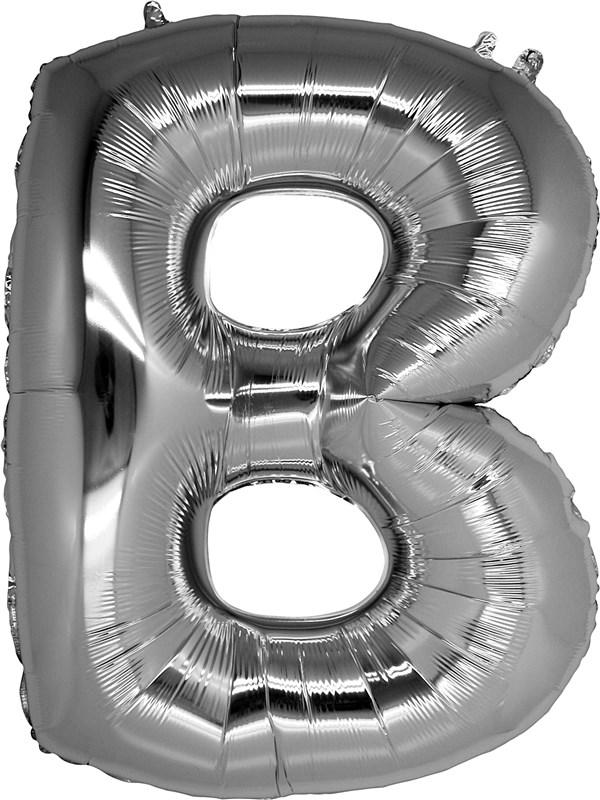 B Harfi Gümüş Renk Folyo Balon