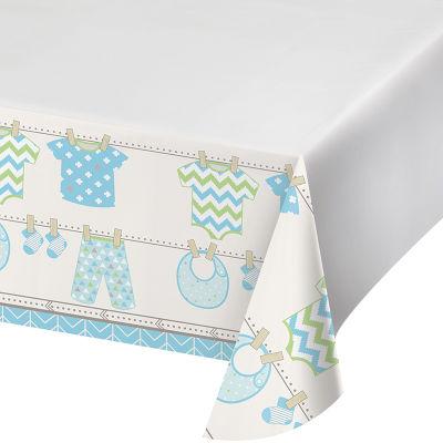 - Bebek Kıyafetleri Mavi Masa Örtüsü 123 x 223 cm