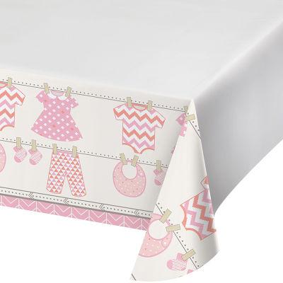 - Bebek Kıyafetleri Pembe Masa Örtüsü 123 x 223 cm