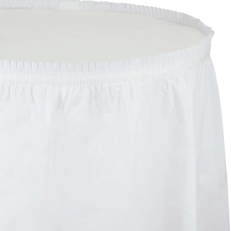 Beyaz Renk Masa Eteği