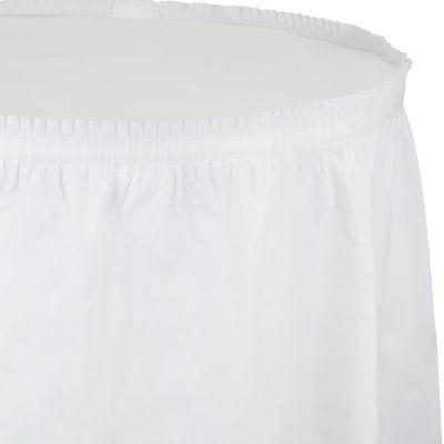 - Beyaz Renk Masa Eteği