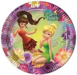 Parti Dünyası - Tinkerbell Fairies Magic Tabak 8 Adet
