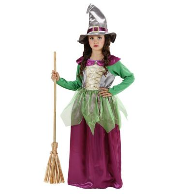 Widmann - Cadı Kostümü Mor- Yeşil