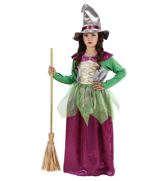 Cadı Kostümü Mor- Yeşil
