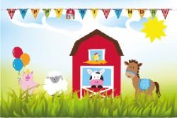 - Çiftlik Evi Etiket 10,5 x 7 cm 12 Adet