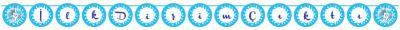 Parti Dünyası - İlk Dişim Çıktı Kurdelalı Harf Afiş Mavi