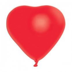 Parti Dünyası - Düz Kırmızı Kalp 10'lu Latex Balon