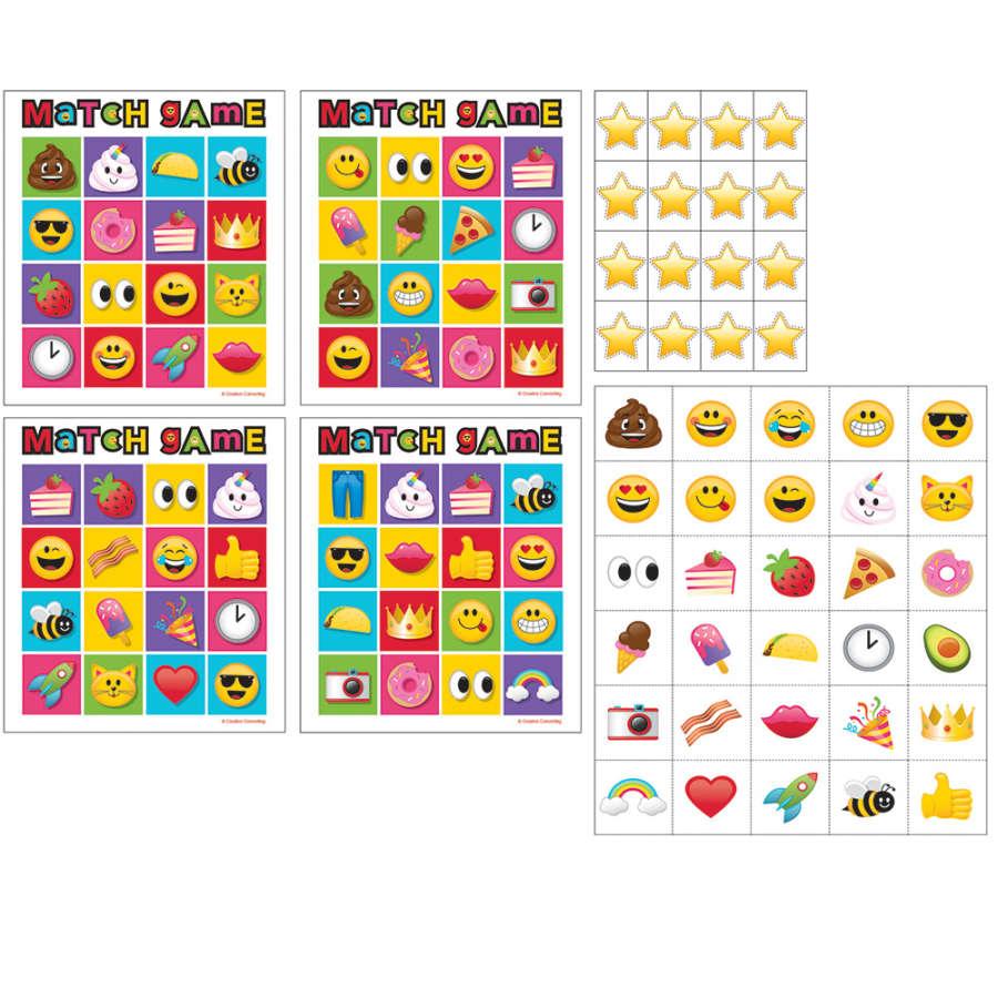 Emojiler MEMORY (Hafıza) Oyunu 10 Kişilik