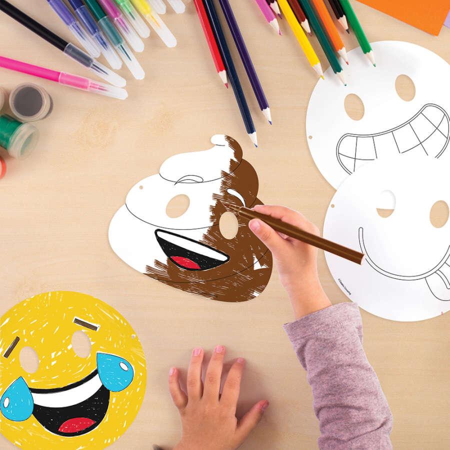 Emojiler Boyama Maskeleri 12 Adet