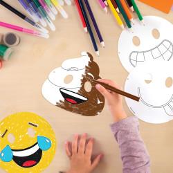 - Emojiler Boyama Maskeleri 12 Adet