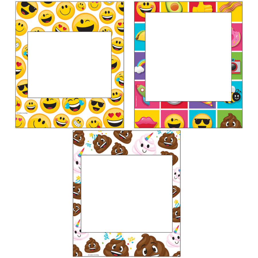 Emojiler Fotoğraf Çekme Çerçevesi 3 Adet
