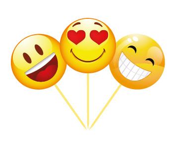 Emojiler Kalpli 6 Lı Kürdan