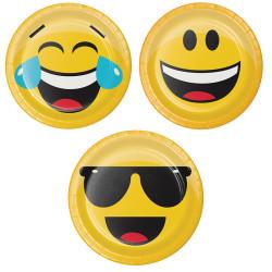 - Emojiler Partisi Pasta Tabağı 8 adet