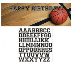 - Fanatik Basketbol Harf Stickerlı Dev Afiş