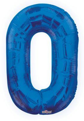 - Folyo Balon 0 Rakamı Mavi