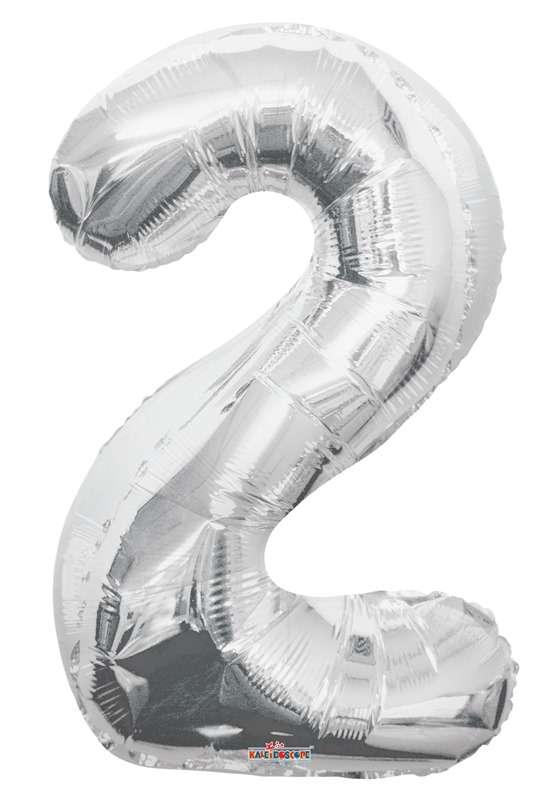 Folyo Balon 2 Rakamı Gümüş