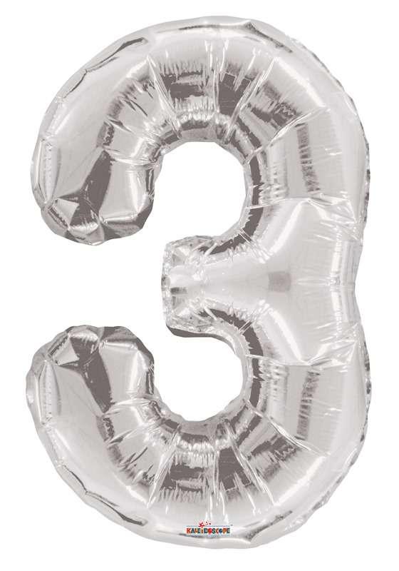 Folyo Balon 3 Rakamı Gümüş