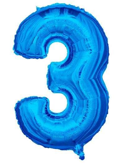 Folyo Balon 3 Rakamı Mavi