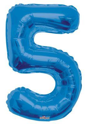 - Folyo Balon 5 Rakamı Mavi