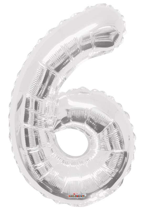 Folyo Balon 6 Rakamı Gümüş