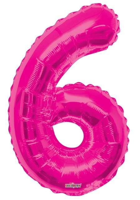 Folyo Balon 6 Rakamı Pembe