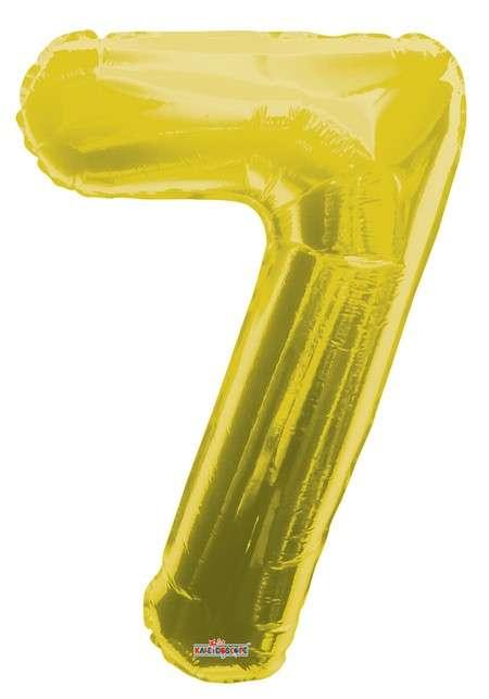 Folyo Balon 7 Rakamı Gold//Altın Renk