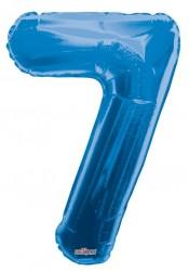 - Folyo Balon 7 Rakamı Mavi
