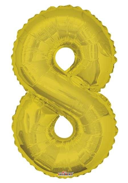 Folyo Balon 8 Rakamı Gold//Altın Renk