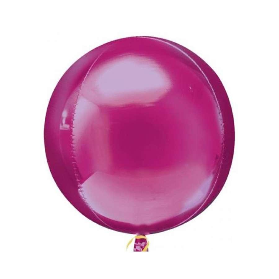 Fuşya Renk Küre Şeklinde Jumbo Boy Folyo Balon
