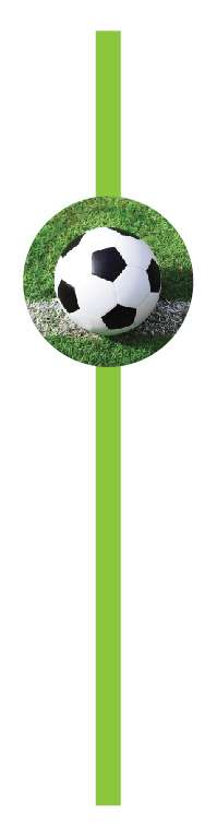 Futbol Partisi Yeşil 10 lu Pipet