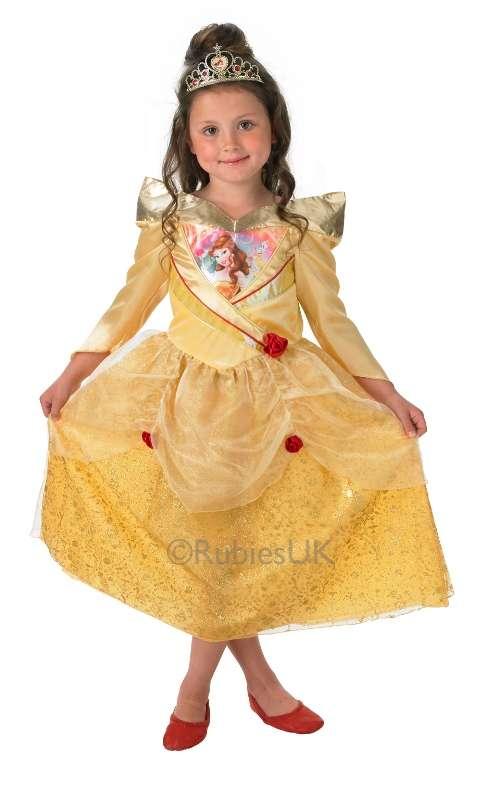 Golden Belle Kostümü Pırıltılı