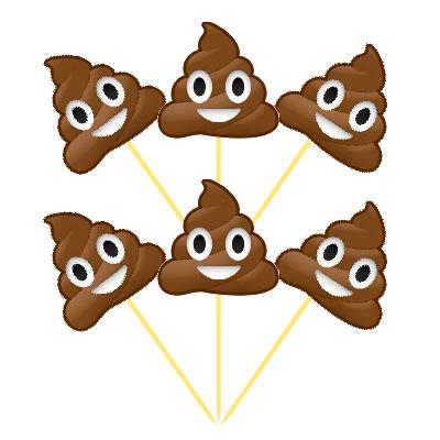 Gülen KAKA Emojiler Şekilli 6 Lı Kürdan