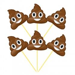 - Gülen KAKA Emojiler 6 Lı Kürdan
