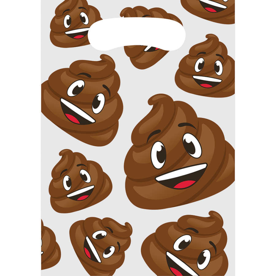 Gülen Kaka Emojiler Hediye Poşeti 8 Adet