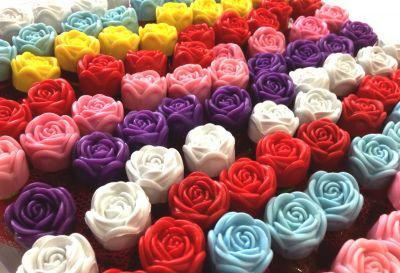 Parti Dünyası - Renkli Güllü 100 Adet Hediyelik Kına