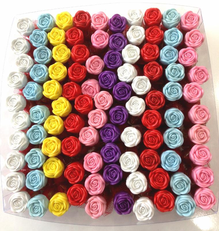 Renkli Güllü 100 Adet Hediyelik Kına