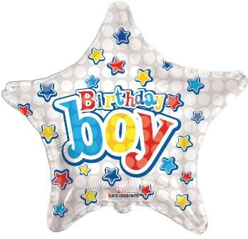 Happy Birthday Boy Yıldızlı Folyo Balon