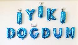 - İyi Ki Doğdun Mavi Folyo Balon