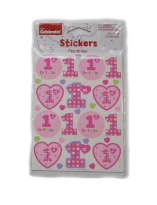 Converting - 1 Yaş Kalpli 4 lü pakette Sticker