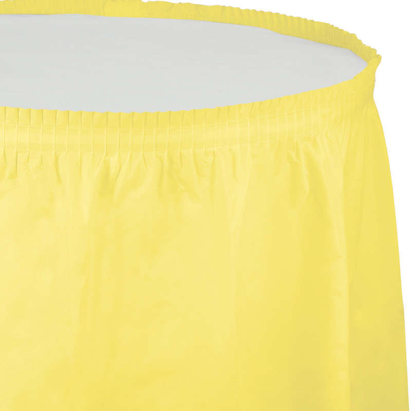 Kanarya Sarısı Masa Eteği