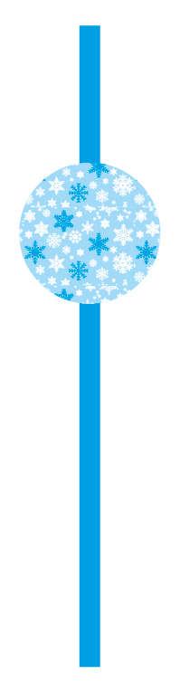 Kar Taneleri Mavi 10 Lu Pipet