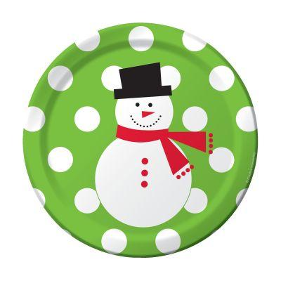 - Kardan Adam ve Puanlar Yeşil Pasta Tabağı