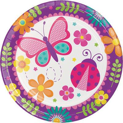- Kelebekler Partisi Tabak 8 Adet