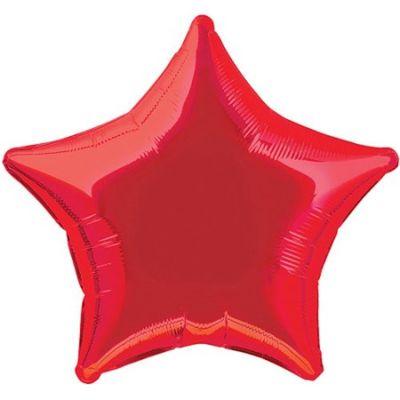 - Kırmızı 18 inç Yıldız Folyo Balon