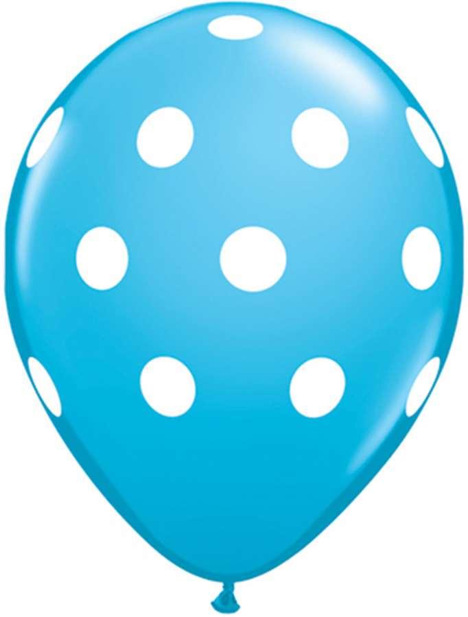 Mavi Beyaz Puanlı 100 Lü Balon