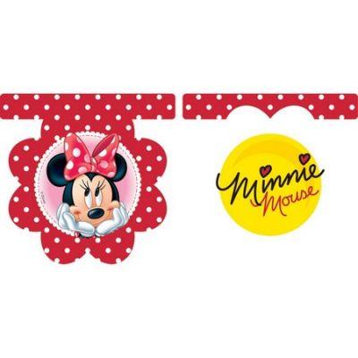 Procos - Minnie Fashion Çiçekli Bayrak Afiş
