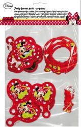 Parti Dünyası - Minnie Mouse Süslü Kızlar Set 20 Adet